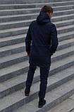 Куртка Softshell V2.0 мужская синяя демисезонная Intruder + Ключница в подарок, фото 4
