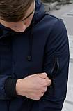 Куртка Softshell V2.0 мужская синяя демисезонная Intruder + Ключница в подарок, фото 7