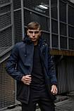 """Куртка мужская синяя черная Softshell демисезонная """"Citizen"""" Intruder осенняя весенняя на флисе+Ключница, фото 4"""
