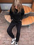 Женский спортивный костюм трикотаж оверсайз Турция весна осень черный. Живое фото, фото 5