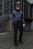 """Куртка мужская серая черная Softshell демисезонная """"Citizen"""" Intruder осенняя весенняя на флисе+Ключница, фото 2"""