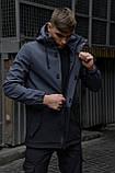 """Куртка мужская серая черная Softshell демисезонная """"Citizen"""" Intruder осенняя весенняя на флисе+Ключница, фото 5"""