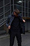 """Куртка мужская серая черная Softshell демисезонная """"Citizen"""" Intruder осенняя весенняя на флисе+Ключница, фото 6"""