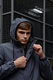 """Куртка мужская серая черная Softshell демисезонная """"Citizen"""" Intruder осенняя весенняя на флисе+Ключница, фото 8"""