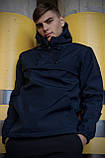 Куртка анорак чоловіча осіння синя Softshell Walkman демісезонна весняна Intruder+Ключниця в подарунок, фото 3