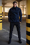 Куртка анорак чоловіча осіння синя Softshell Walkman демісезонна весняна Intruder+Ключниця в подарунок, фото 9