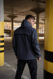 Куртка анорак мужская осенняя серая Softshell Walkman демисезонная весенняя Intruder+Ключница в подарок, фото 3
