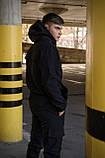 Куртка анорак чоловіча осіння чорна Softshell Walkman демісезонна весняна Intruder+Ключниця в подарунок, фото 6