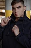 Куртка анорак чоловіча осіння чорна Softshell Walkman демісезонна весняна Intruder+Ключниця в подарунок, фото 7