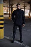 Куртка анорак чоловіча осіння чорна Softshell Walkman демісезонна весняна Intruder+Ключниця в подарунок, фото 9