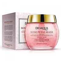 Гелева маска для обличчя BIOAQUA Rosepetal Mask Natural Plant Rosehydrating Petals Mask з пелюстками троянд 120 г