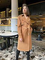 Длинное пальто-тренч кемел O.Z.Z.E Д350