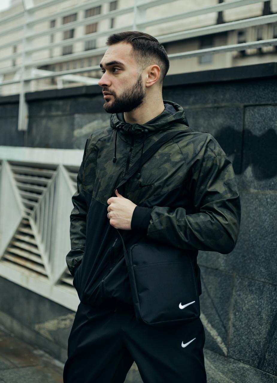 Анорак Nike President Чоловічий Чорний найк вітровка