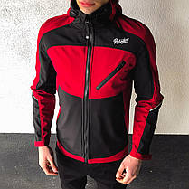"Мужская куртка Pobedov Jacket ""Round"" бордово-черного цвета, фото 3"