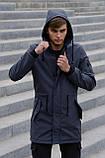 Куртка Softshell V2.0 чоловіча сіра демісезонна Intruder + Ключниця в подарунок, фото 5