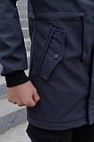 Куртка Softshell V2.0 чоловіча сіра демісезонна Intruder + Ключниця в подарунок, фото 10