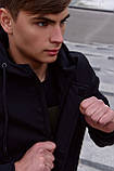 Куртка Softshell V2.0 чоловіча чорна демісезонна Intruder. + Ключниця в подарунок, фото 8