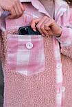 Сорочка жіноча 'Shon' Oversize еко-хутро баранчика весняна   осіння   річна від Intruder рожева, фото 2