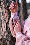 Сорочка жіноча 'Shon' Oversize еко-хутро баранчика весняна   осіння   річна від Intruder рожева, фото 5