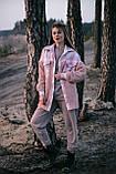 Сорочка жіноча 'Shon' Oversize еко-хутро баранчика весняна   осіння   річна від Intruder рожева, фото 7