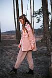 Сорочка жіноча 'Shon' Oversize еко-хутро баранчика весняна   осіння   річна від Intruder рожева, фото 8