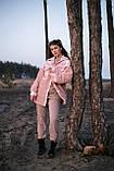 Сорочка жіноча 'Shon' Oversize еко-хутро баранчика весняна   осіння   річна від Intruder рожева, фото 9