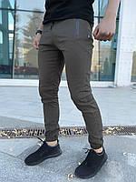 Штаны брюки мужские весенние осенние модные стильные котоновые оливковые хаки Intruder Chesst, фото 1