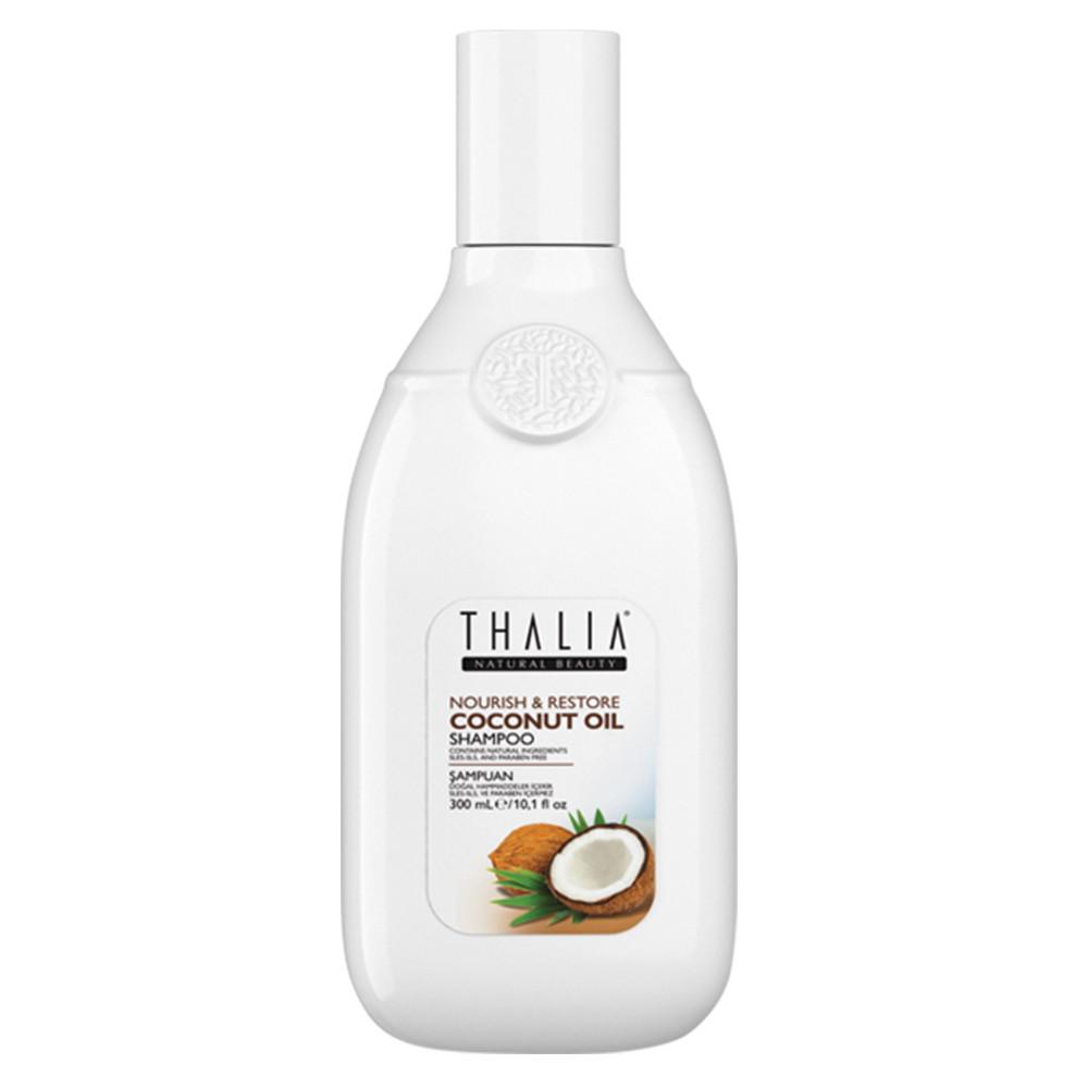 Безсульфатный шампунь для сухих и поврежденных волос с кокосовым маслом THALIA, 300 мл