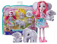 """Игровой набор Энчантималс """"Семья слоненка Эсмеральды"""" Enchantimals Mattel GTM32"""