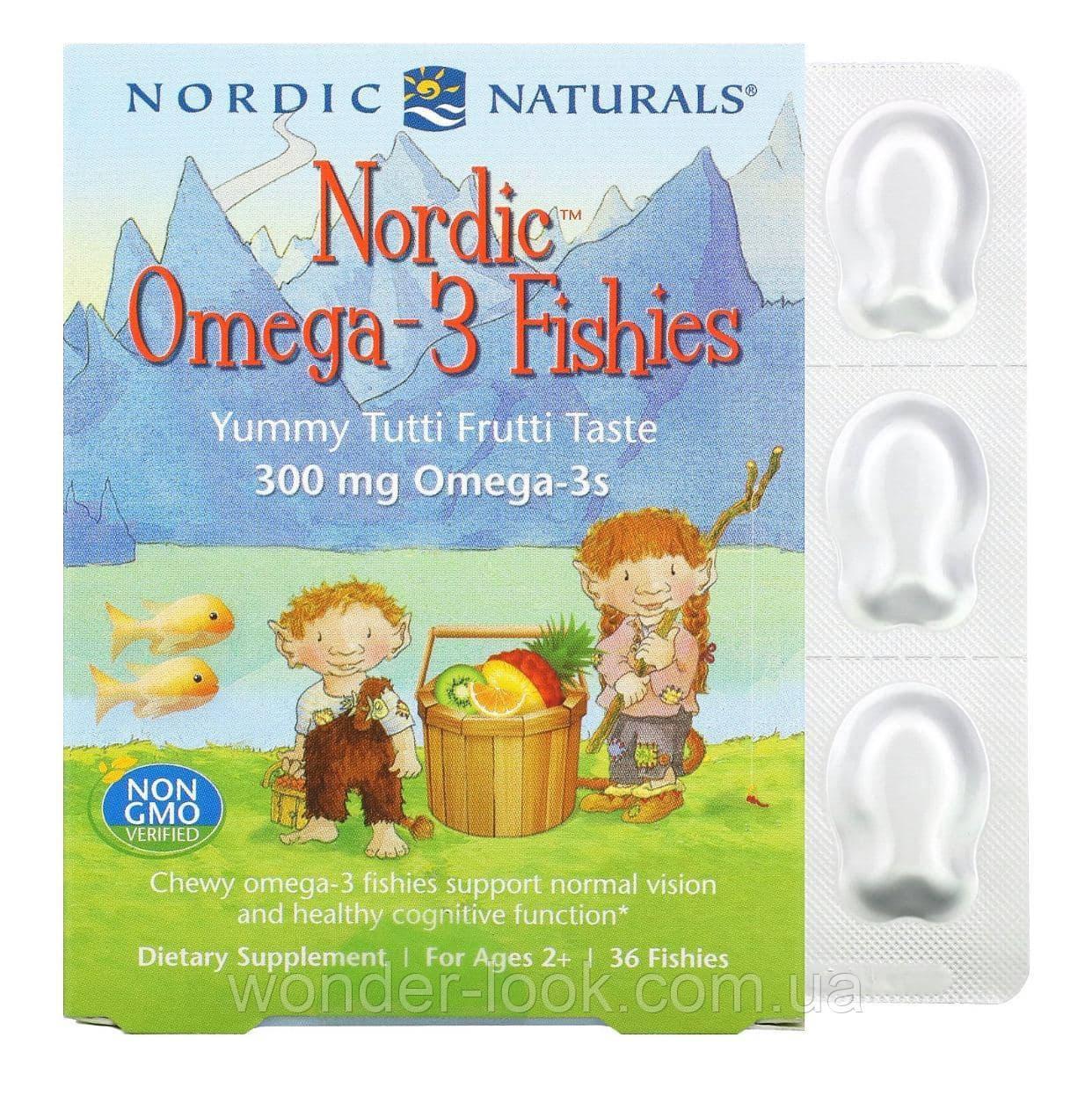 Дитяча жувальна Омега 3 Nordic Naturals 36 шт, США