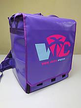 Рюкзак для доставки пиццы на коробки 32*32 см. Сумка для доставки пиццы, суши,  еды. ПВХ. Клапан