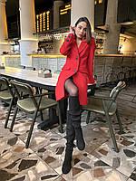 Весеннее пальто из кашемира Италия красное O.Z.Z.E Д357