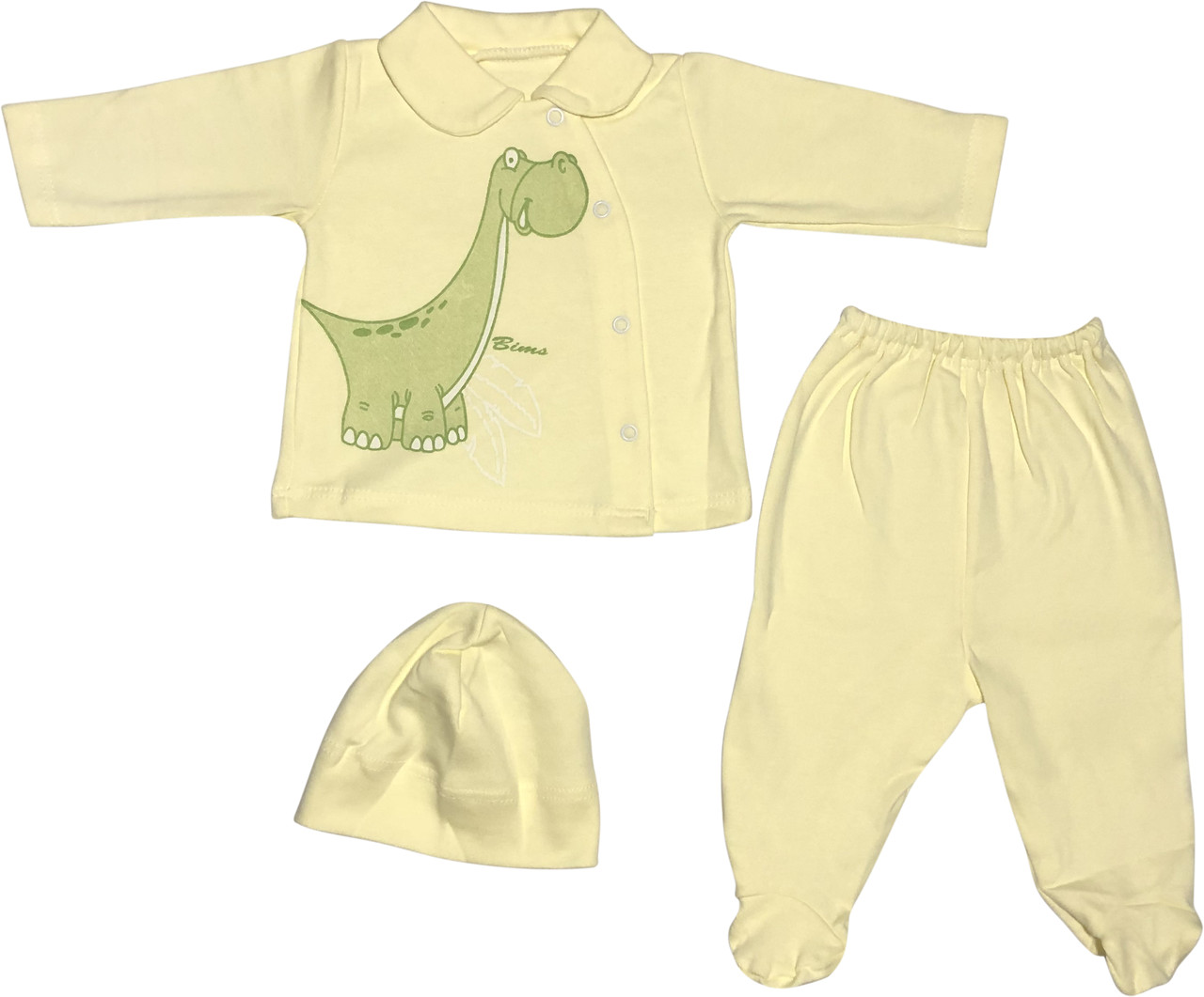 Костюм для новорожденных малышей рост 68 3-6 мес на мальчика девочку комплект детский трикотажный жёлтый
