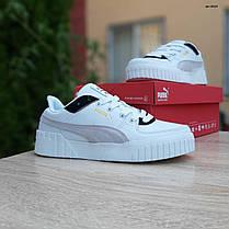 Жіночі кросівки Пума Cali білі з чорним, фото 3