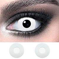 Цветные линзы контактные белые ELITE Lens White 14,5 мм. (N0225)