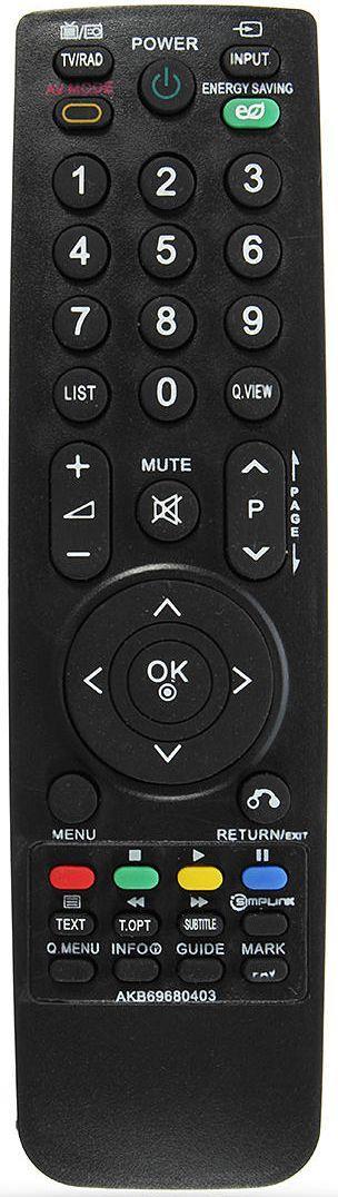 Пульт для телевізора LG 47LH7030-ZE (54396)