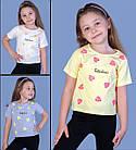 """Детская футболка(девочка), 3-4-5-6 лет, """"Fabulous"""" (листики), фото 2"""
