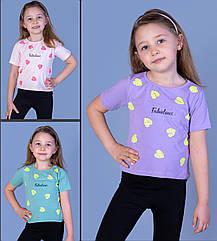 """Детская футболка(девочка), 3-4-5-6 лет, """"Fabulous"""" (листики)"""