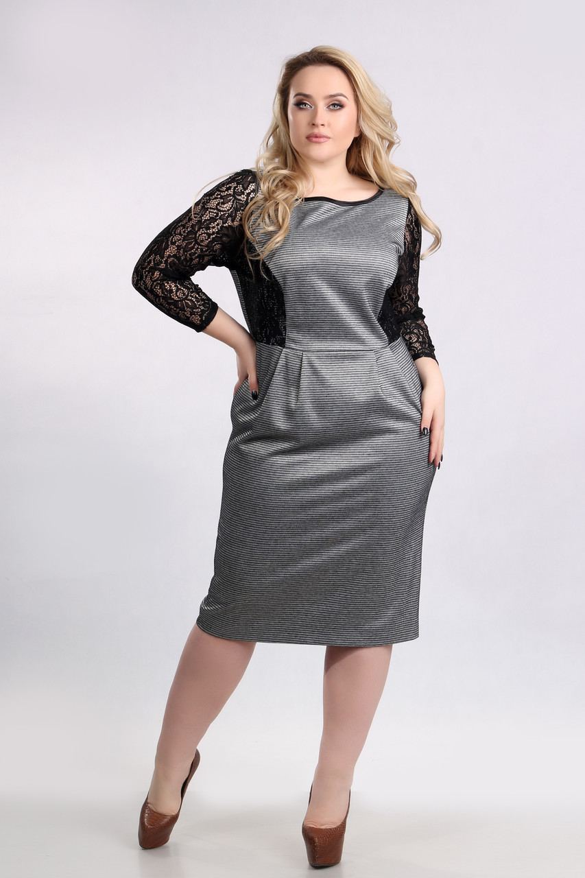 Платье Tasa 1200 52 Бежево-черное