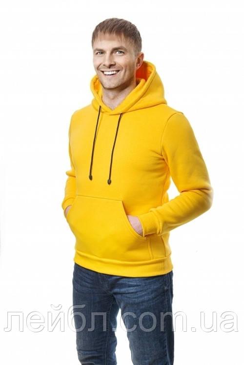 Худі чоловіче жовте (трехнитка)