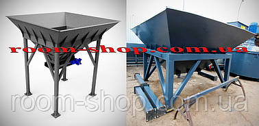 Бункер накопитель, питатель, дозатор, загрузочный, с ленточным конвейером, на 4 куба, для хранения, перегрузки