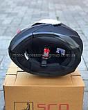 Шлем SCORPION модуляр закрытый с откидным подбородком+очки SCO-162 ЧЕРНЫЙ матовый, фото 3
