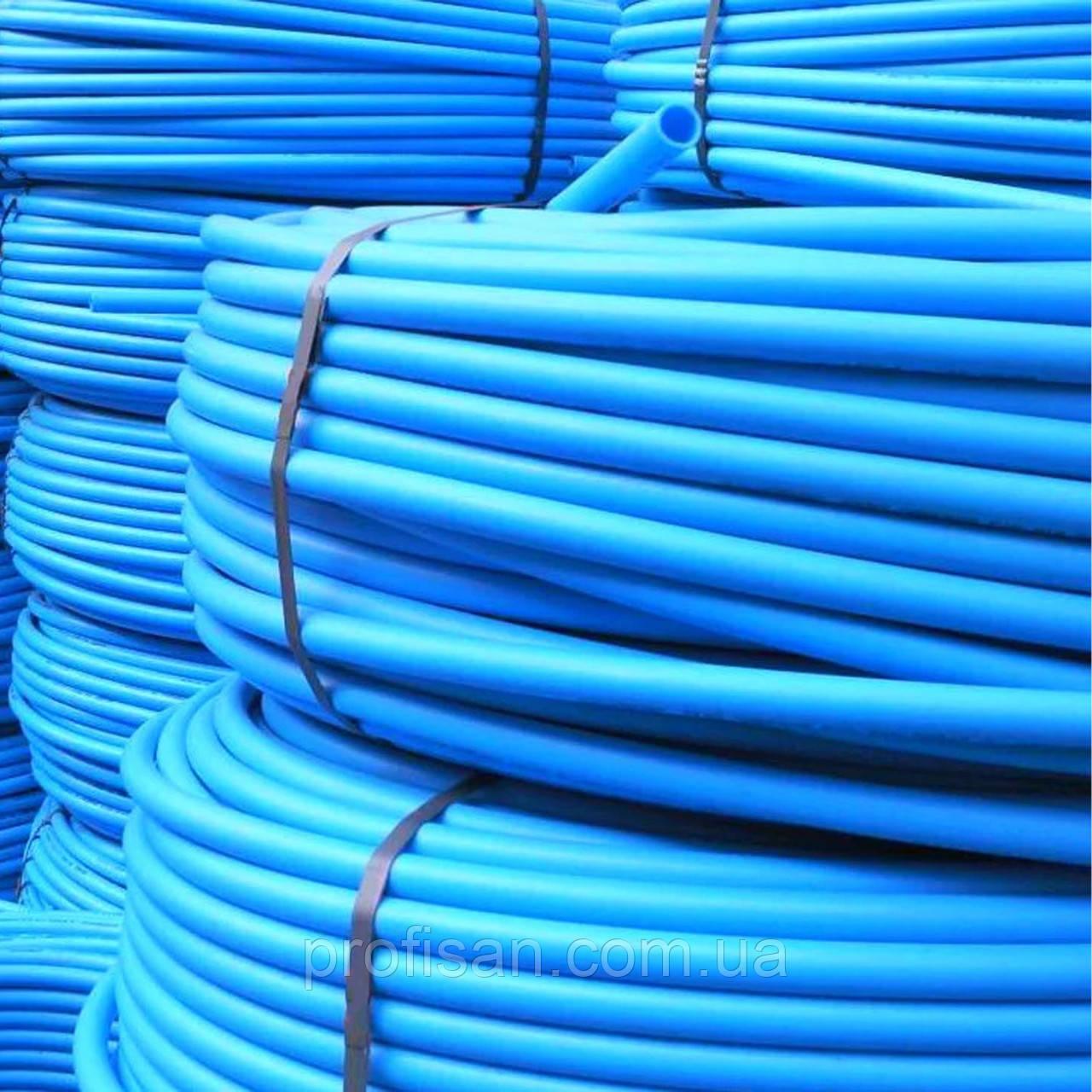 Труба ПЕ для водопостачання (блакитна) ф 20x2.0мм, 200мп, 8 атм (Польща)