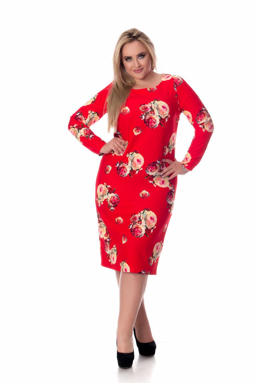 Сукня Tasa 1124 48 Червоне