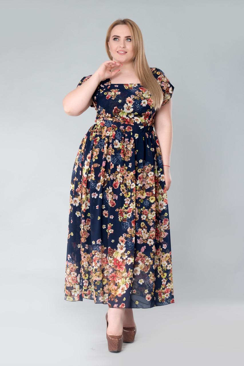 Платье Tasa 1166 50 Синее