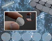 Круглые липучки 15 мм прозрачные крючковые 100 шт / многоразовые кружки стикеры на самоклейке