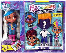 Набор Just Play Hairdorables Sallee Модная парочка сюрприз 2 куклы мальчик и девочка Салли