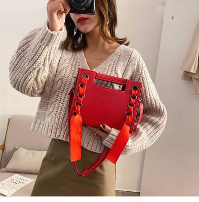 Модная женская сумка с ленточками