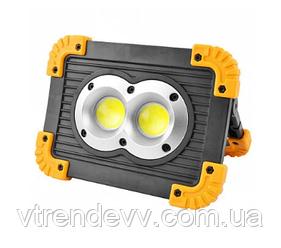 Прожектор фонарь от сети и от аккумуляторных батарей LED Outdoor L802 20W