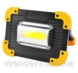 Прожектор фонарь от сети и от аккумуляторных батарей LED Outdoor WD L811 20W
